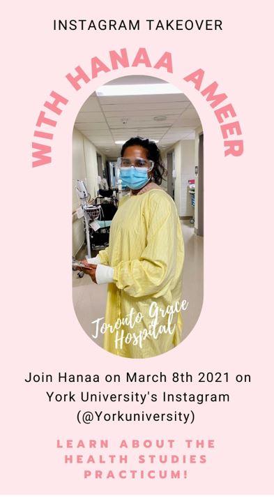 Event poster for Hanaa Ameer Instagram
